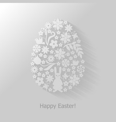 Easter floral vector image vector image
