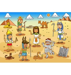 Egypt child cartoon vector