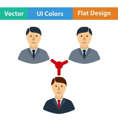 Flat design icon of Businessmen connection vector image vector image