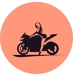 Girl on motorcycle vector image