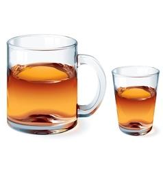 Glass of tea vector