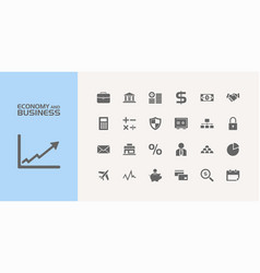 group of twenty economy and business icons vector image vector image