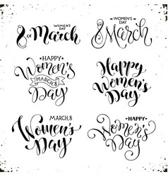 Happy womens day phrases vector