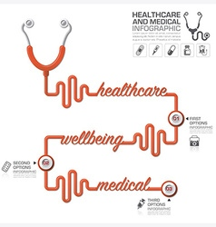 Healthcare and medical infographic with vector