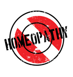 Homeopathy rubber stamp vector
