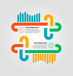 infographics elements bar chart vector image vector image