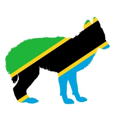 Jackal from tanzania vector