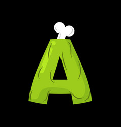 letter a zombie font monster alphabet bones and vector image vector image