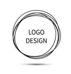 logo design hand drawn circle vector image vector image