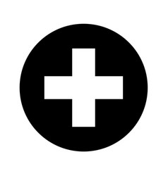 Medical cross symbol icon vector