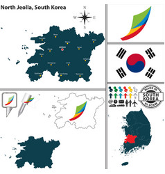 north jeolla province south korea vector image vector image