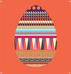Ornamental easter egg -poster vector