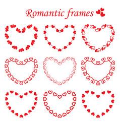set of romantic frames vector image