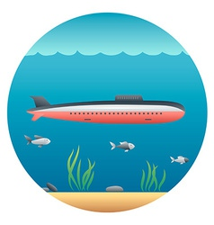 Submarine detailed vector