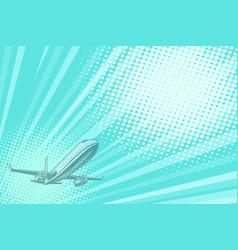 takeoff aviation background flight journey vector image vector image