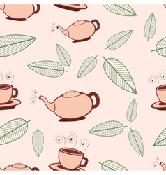 Tea Seamless Pattern vector image vector image