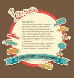 transport cartoon background vector image vector image