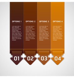 Brown Color Origami Style Number Options Banner vector image
