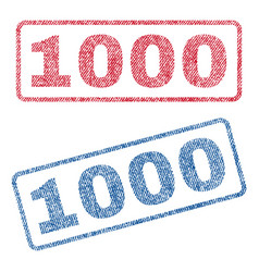 1000 textile stamps vector