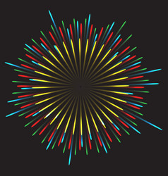 Glowing collection firework light effects vector