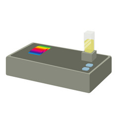 spectrometer icon cartoon style vector image