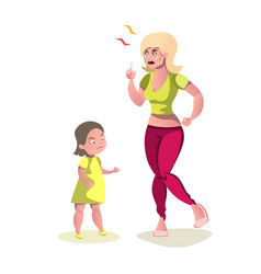 mother angry at her daughter vector image