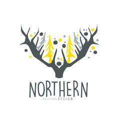 Nothern logo template original design badge for vector
