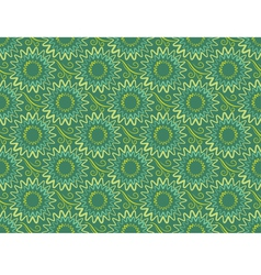 Seamless green vertical floral background in retro vector