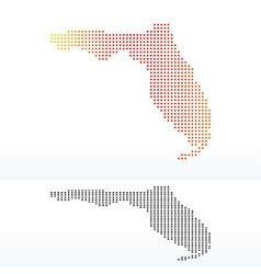 Map of usa florida state with dot pattern vector