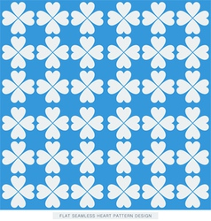 Blue flat hearts seamless background pattern vector
