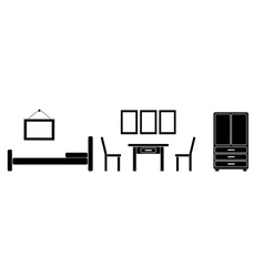 Room with furniture vector