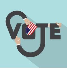 Vote Typography Design vector image
