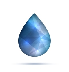 Polygonal water or oil or fluid drop droplet vector