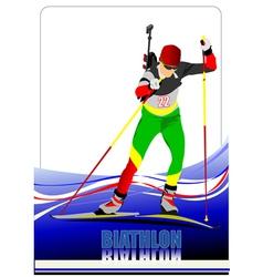 al 0719 biathlon 04 vector image vector image