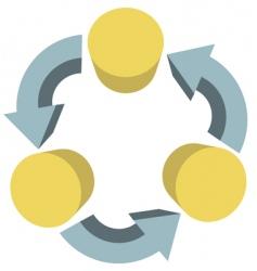 arrows recycle workflow vector image vector image
