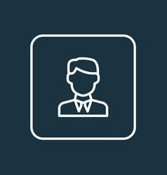 businessman outline symbol premium quality vector image vector image