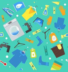 Cartoon laundry background pattern vector