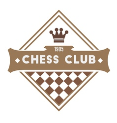 Chess Club vector image vector image