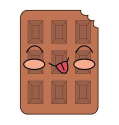 Chocolate bar kawaii character vector