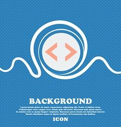 Code sign icon programmer symbol blue and white vector
