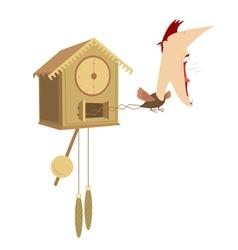 Cuckoo clock vector image
