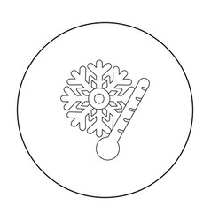 Frost icon in outline style isolated on white vector