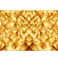 Golden abstract ornament vector image