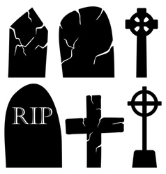 Grave stones set vector
