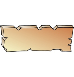 Hand-drawn of a plank vector