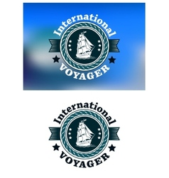 International Voyager emblem vector image