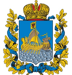 Kostroma Oblast Coat-of-Arms vector image