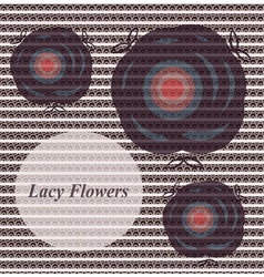 lacy flowers vector image vector image