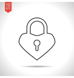 lock heart icon vector image