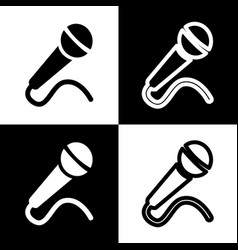 Microphone sign black and vector
